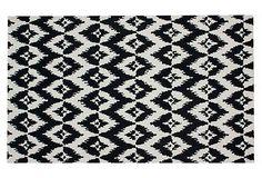 Found my rug for master bedroom!! Yay!! Ikat Rug, Black on OneKingsLane.com