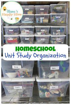 Montessori Inspired Homeschool Unit Study Organization - www.mamashappyhive.com