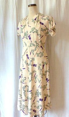 30s/40s fiddle dress!