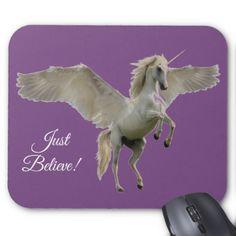 Winged Unicorn Mouse Pad - beauty gifts stylish beautiful cool