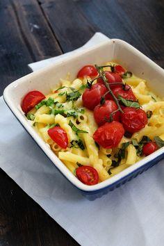 Pasta überbacken mit Tomaten und Käse