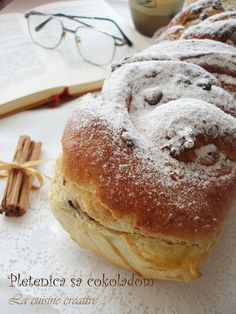 Sweet bread with chocolate