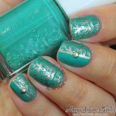 Born Pretty Store: QA73 Stamping Plate Review http://www.magnifique-nails.com/2014/04/born-pretty-store-qa73-stamping-plate.html