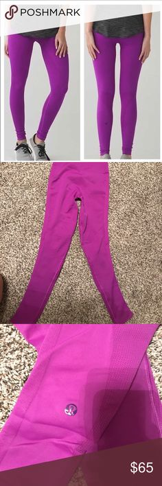 Lululemon zone tights! Re-posh, these were described to be a 6 but I believe they are smaller then that... unfortunately the tag was cut out also. They are in perfect condition minus the tag missing... the logo is shown toward the bottom of the pant lululemon athletica Pants Leggings