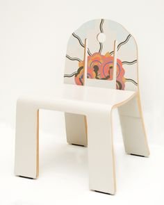 """Designed by Robert Venturi (American, b. 1925), manufactured by Knoll International (American), """"Art Deco side chair,"""" 1979-1984; Indianapolis Museum of Art, The Liliane and David M. Stewart Collection, 2008.222; © Robert Venturi"""