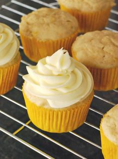 Banana Cupcakes with Cream Cheese Frosting - for Nate!