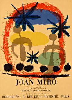Joan Miro, Constellations 68 x 49cm Litho 1959