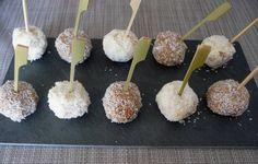 recette sucettes de litchi à la noix de coco , chocolat blanc chocolat dulcey