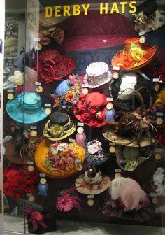 Derby Hats. Perhaps a bit busy? #millinery #judithm #hats