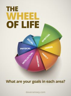 Zig Ziglar's The Wheel of Life. When setting goals, make sure you include these areas.