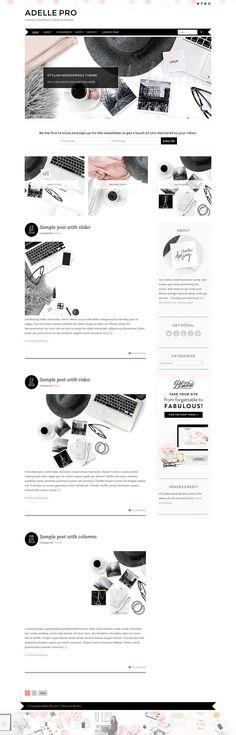 Stunning wordpress theme Adelle. Feminine wordpress theme that is Woocommerce ready. $79 https://crmrkt.com/VQEd4 #ad