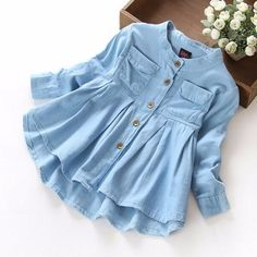 girls denim tunic top