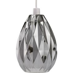 Neptune Glass Easy Fit Pendant - Smoke Available from Homebase