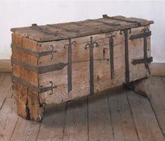 Medieval iron bound chest