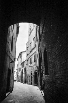 Not lost, no street names by hjl on Flickr.Siena 1/125, f/4, TMax 100, Canon FD 24mm f/2.8 on A-1. HC-110, 1:160, 36min @ 23C semi stand