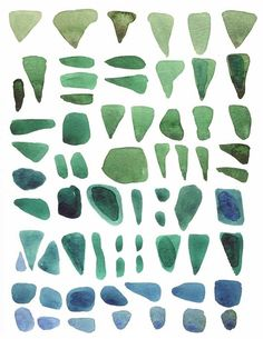 Sea glass painting - reminds me of the hours spent searching for sea glass with my grandma.