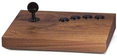 Arcade joystick noir et bois