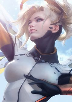 Mercy by Artgerm.deviantart.com on @DeviantArt - More at https://pinterest.com/supergirlsart/ #overwatch #fanart #angel #angela