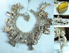 Item Image Silver Charms Vintage Travel Charm Bracelets Jade