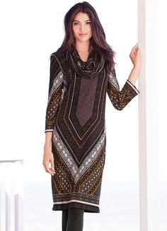 Print Snood Dress