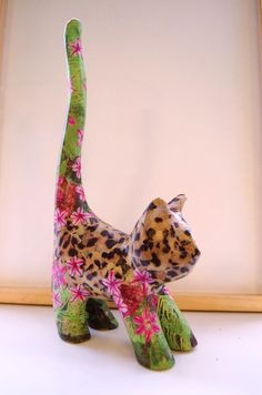 Just PURRfect!...This lovely cat is from our range of animal blanks and decopatched. www.countrylovecrafts.com