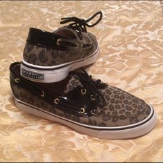 Sperry Top-Sider Cheetah print Sperry Top-Sider. Good condition. Sperry Top-Sider Shoes Flats & Loafers