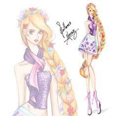 "Rapunzel - Modern Disney Princesses ""Disney Chickz"""