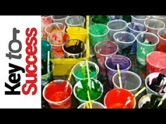 Acrylic paint pouring: MIXING PAINT & CONSISTENCY. FAQ's & Silicone & airbubbles. Fluid-Art - YouTube