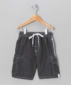 Look at this Kanu Surf Charcoal Swim Trunks - Toddler & Boys on #zulily today!