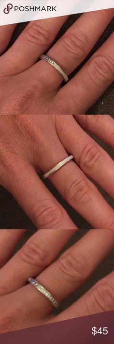 Pandora ring Pandora ring radiant gets of pandora silver and clear size 56 Pandora Jewelry Rings