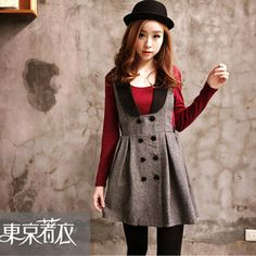 Buy 'Tokyo Fashion – Sleeveless Collared Jumper Dress' with Free International Shipping at YesStyle.com. Browse and shop for thousands of Asian fashion items from Taiwan and more!