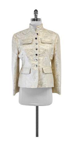 Walter Cream & Silver Paisley Print Jacket