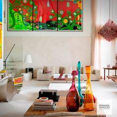 Arte, design , cor. ✨ Art, design, color ✨ #dicasfernandamarques #fernandamarquestips #color #art #design #sculpture #decor #interior #interiordesign #fernandamarques #fernandamarquesarquiteta