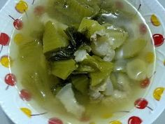 Thaifood: Tom Pak Gaad Dong - Sour Mustard green soup