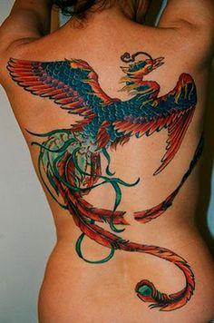 big phoenix tattoo