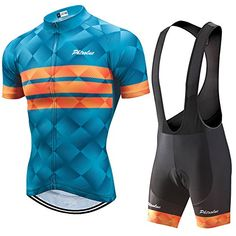 PHTXOLUE Men s Cycling Jersey Set Bicycle Short Sleeve Set Quick-Dry  Breathable Shirt+3D · Cycling WearBike ... aa518a197