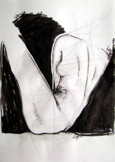 "Saatchi Art Artist Leyla Ozluoglu; Drawing, ""nude"" #art #watercolor #ink #nude #body"