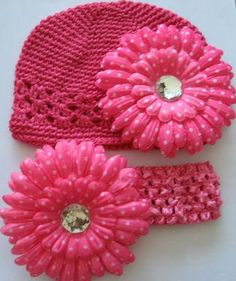 Baby Girl head bands and hats.
