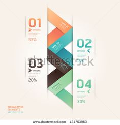 Modern arrow origami style number options banner. Vector illustration. can be used for workflow layout, diagram, step options, web design, infographics.