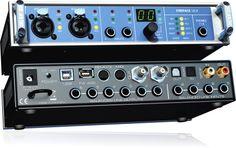 FIreface UCX, 36 canaux, 8 entrées/sorties analogiques, 2 préamplis, DSP, USB & Firewire.