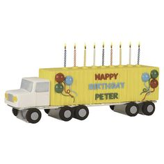 This candle-decked semi lights up a road warrior?s special day. Construct the truck cake from Long Loaf Pan and Mini Loaf Pan cakes, and add a sweet salutation using letters formed in our Alphabet Candy Mold.