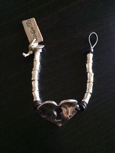 Uno De 50 Heart Beaded Leather Bracelet - Fantastic !! NWT in Jewellery & Watches, Costume Jewellery, Bracelets | eBay