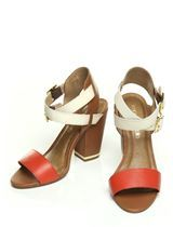 Mention Coral Heeled Day Sandals Moda in pelle