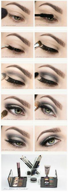 Grat eyeshadow tutorial. [Site's in Polish] #makeup