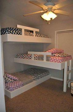 Tripple bunk beds