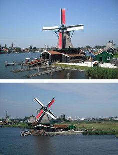 Saw mill Het Jonge Schaap, Zaandam, the Netherlands.
