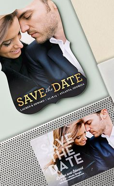 Picture yourself while browsing our save the dates. With Wedding Paper Divas My Photo feature you can see your favorite pic in every design at once.