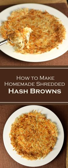 How to Make Homemade Shredded Hash Browns - Recipe #breakfast