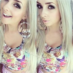 Piinksparkles She's flawless I love her top and those earrings and her eyes and smile and nose and eyebrows and okay you get the point Lol xD