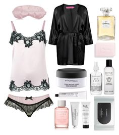 """Sweet nights"" by jaelclarice ❤ liked on Polyvore featuring Dolce&Gabbana, Agent Provocateur, Bobbi Brown Cosmetics, Herbivore, Chanel, MAC Cosmetics, L:A Bruket, philosophy, Byredo and Amanda Lacey"